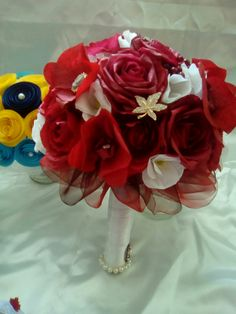 Buchet mireasa. Paper Flowers, Crown, Plants, Jewelry, Corona, Jewlery, Jewerly, Schmuck, Jewels