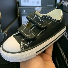 Converse Chuck Taylor 2 Strap Ox Black 7V603 Infant//Toddler Shoes