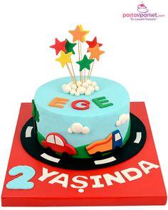 Renkli Arabalar Doğum Günü Pastası Birthday Cake, Desserts, Tailgate Desserts, Deserts, Birthday Cakes, Postres, Dessert, Cake Birthday, Plated Desserts
