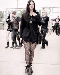 Wave Gotik Treffen, WGT, Leipzig, Moi Meme Moitie, Etsy, h.Naoto, Black Peace Now, BPN, Peace Now, Bianco, H&M, Chen Nguyen, Chen Jean Nguyen, Black, Goth, Gothic, Spiderweb, Heels, Pumps, lace, Knee socks, Bows, Tights, Crossover, Vietnamese, Piercing, Septum, Asian, Asian girl, Goth girl, Pendant, Sakura, Cherry blossom, Dark fashion,Style, Outfit, Alternativ,