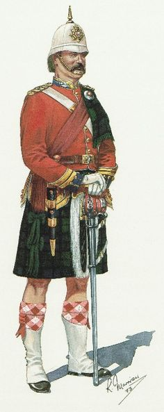 Field Officer of the 5th Battalion Royal Scots of Canada 1890