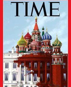 Portada de Time sobre la influencia de Vladímir Putin en Washington con el nuevo Gobierno Donald J. Trump #interesante