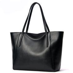 Fashion-Shoulder-Bag-Large-Totes-Shopper-Genuine-Leather-Women-Commute-Bags