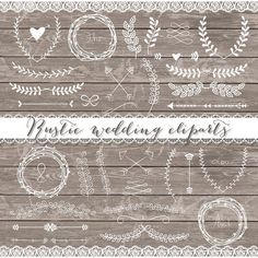 Vector Rustic wedding cliparts by burlapandlace on @creativemarket