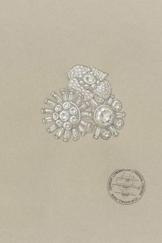 6d605f12fb31d5 Tiffany   Co. Great Gatsby Jewelry Collection - A sketch of a Tiffany  diamond corsage