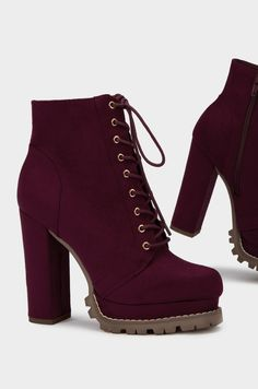 Run The Streets - Wine - Cute shoes - Source by tangerline de mujer botines Boots For Short Women, Short Boots, Lace Ankle Boots, Heeled Boots, Chunky Heel Boots, Brown Leather Shoes, Brown Boots, Dream Shoes, Fashion Boots