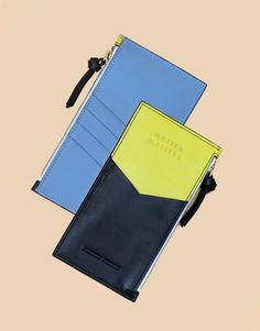 Mini Zipped Pouch in Black/Yellow | Matter Matters | Shop | NOT JUST A LABEL