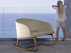 CLEO TEAK | Rocking easy chair Cleo Teak Collection By Talenti design Marco Acerbis
