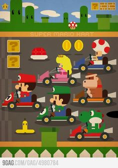 """Daniel Torres - Mario Kart Me: i want this right neow! Super Mario Bros, Super Mario Brothers, Super Nintendo, Nintendo Ds, Nintendo Games, Metroid, Yoshi, Deco Gamer, Mario Y Luigi"