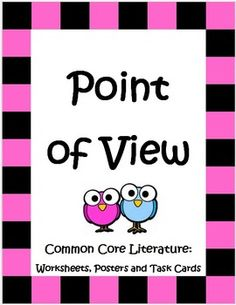The Point of View unit is a 36 page packet with task cards, worksheets, posters, activities and more that provide your students with lots of practice as they master the concept of reading with an eye towards perspective. It targets Common Core RL 3.6, 4.6, and 5.6 in a really fun and painless way! $