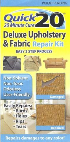 Fabric And Upholstery Repair Kit By Invisible