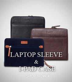 Leather I-pad Case and Laptop Sleeve