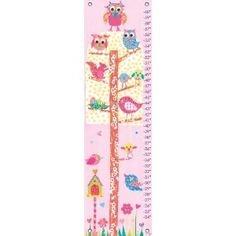 Oopsy daisy Little Owls Growth Chart by Rachel Taylor. OH MY GOSH THIS MATCHES MY GRANDAUGHTER'S ROOM.