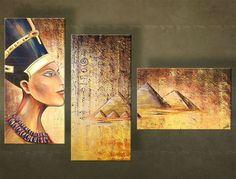 Ručne maľovaný obraz EGYPT 3 dielny 3866FA
