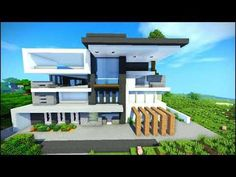 Minecraft Mansion Geek - Explore the best and the special ideas about Lego Minecraft Minecraft Farmen, Minecraft House Plans, Easy Minecraft Houses, Minecraft House Tutorials, Minecraft House Designs, Minecraft Construction, Minecraft Bedroom, Minecraft Buildings, Villa Minecraft