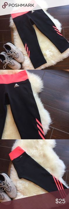 {Adidas} Leggings These leggings have literally never been touched. They are so cute but I have so many leggings I have to let some go. No damages at all and is true to size. The leggings fall a little below the knee area. Adidas Pants Leggings
