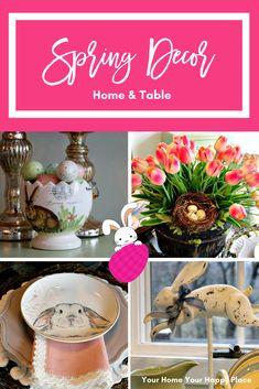 Tour my home and get inspired for your own Spring Decor www.yourhomeyourhappyplace.com