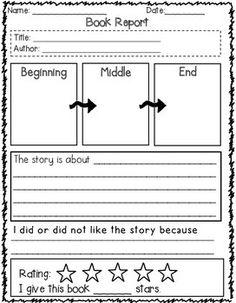 Elements of a 4th grade book report