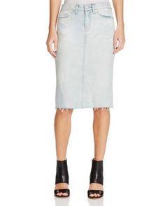 BLANKNYC Raw Hem Denim Pencil Skirt in Donut Care | Bloomingdale's