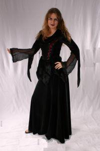 Gothic Long Velvet Skirt. Gothic Velvet Full Length Skirt ~ 5 Colours available. By Bares~85-1088~