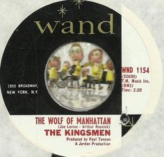 THE KINGSMEN The Wolf Of Manhattan HALLOWEEN PSYCH GARAGE ROCK 45 RPM RECORD NM-