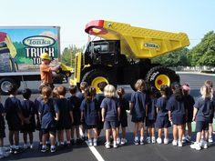 Larger than life, road ready, replica of the classic yellow TONKA's Toughest Mighty Dump Truck