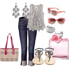 """by vljohnson on polyvore . . """"touch of pink"""""""