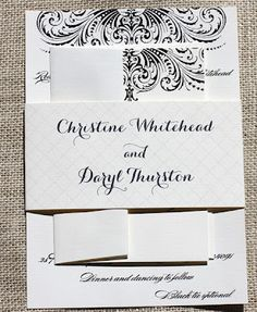modern wedding invitation from blush paperie