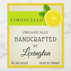 Custom Wine Labels, Wine Bottle Labels, Homemade Limoncello, Limoncello Recipe, Lemon Party, Wine Label Design, Glitter Wine, Wedding Labels, Mini Bottles
