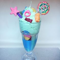 For the sweet lover  Scented sweet and lollipop Sundae Dessert candle