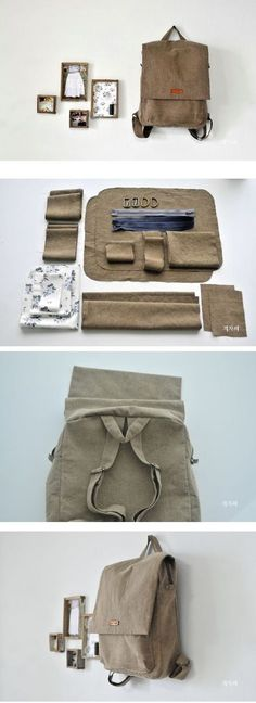 Tendance Sac Description Step To Step Backpack DIY fastmade. - Tendance Sac Description Step To Step Backpack DIY fastmade. Sewing Hacks, Sewing Tutorials, Sewing Projects, Sewing Kits, Free Sewing, Mochila Tutorial, Pretty Backpacks, Sacs Tote Bags, Diy Backpack