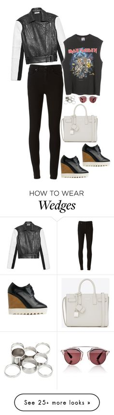 """Untitled #1477"" by samikayy76 on Polyvore featuring Helmut Lang, Paige Denim, STELLA McCARTNEY, Yves Saint Laurent, Missguided and Christian Dior"