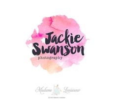 Premade watercolor logo design photography logo by MadameLevasseur