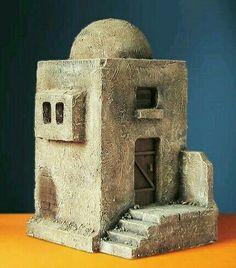 Clay Houses, Ceramic Houses, Miniature Houses, Beaded Christmas Ornaments, Christmas Nativity, Christmas Diy, Christmas Decorations, Nativity House, Christmas Drama