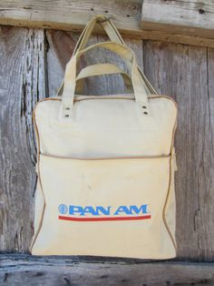 60s Pan Am Airline Canvas Carry-on Bag