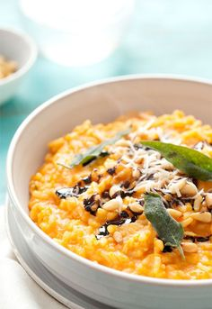 #Recipe: Butternut Squash Risotto with Pine Nuts, Balsamic Drizzle, and Fried Sage