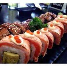 Unagi maki and Salmon roll.