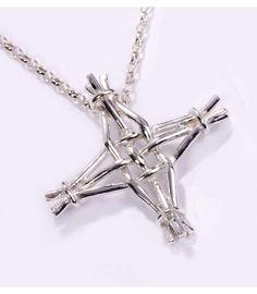 St Brigids Cross Small Cross Pendant on 2 bell chain St Bridget's Cross, St Brigid Cross, Silver Anniversary, Cross Pendant, Arrow Necklace, Saints, Great Gifts, Pendants, Sterling Silver