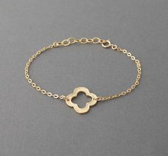 Gold Clover Quatrefoil Bracelet also available in by jennijewel, $23.00