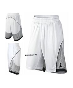 3c64891aaa1 NIKE JORDAN BASKETBALL SHORTS WHITE BLACK SIZE LARGE FLIGHT PREMIUM DRI-FIT  MEN #Nike