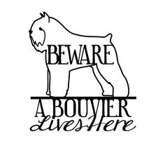 Bouvier Breed Metal Wall Art - Dog Sign