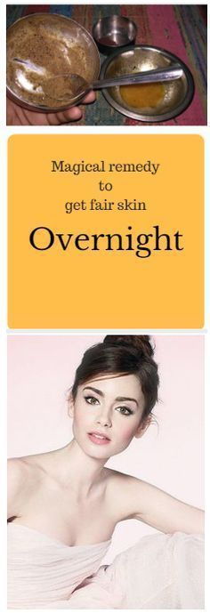 Magical remedy to get fair skin overnight On diamond facial we spend thousands of rupees but today I am going to share one natural remedy that can give you same results at home and as there is no .....