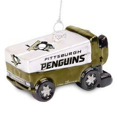 Pittsburgh Penguins Glitter Zamboni Ornament - Fanatics.com