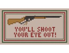 Irreverent You'll SHOOT Your EYE OUT Cross by neverdyingpoet