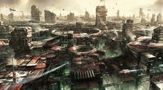 General 6420x3564 cities Star Citizen science fiction artwork digital art futuristic concept art video games minimalism