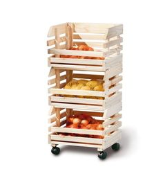 Link 60100400 Fruit Box Trolley Fruits