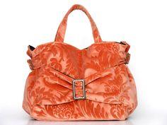 I love this bag ... TINA orange apricot embossed velvet  handbag by BagsSofissima Paris, $144.11