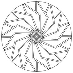 Easy Mandala Coloring Pages | Free Download Anime Images