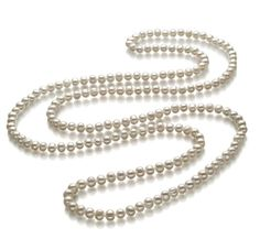 Betty White A Quality Freshwater Cultured Pearl Necklace for in Rope Length Tahitian Pearl Necklace, Real Pearl Necklace, Cultured Pearl Necklace, Diamond Pendant Necklace, White Freshwater Pearl, Freshwater Pearl Necklaces, Betty White, Bridal Jewelry, Pearls