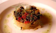El segundo plato que presentó Alicia: Patata cocinada al vacío en el horno y después frita con frito mallorquín y aire de hinojo. http://www.esrecoderanda.com/